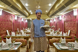 dining restaurant in royal rajasthan on wheels