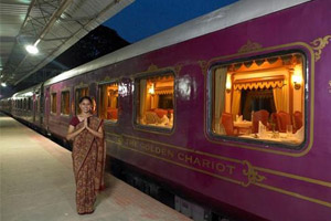 welcome in golden chariot train